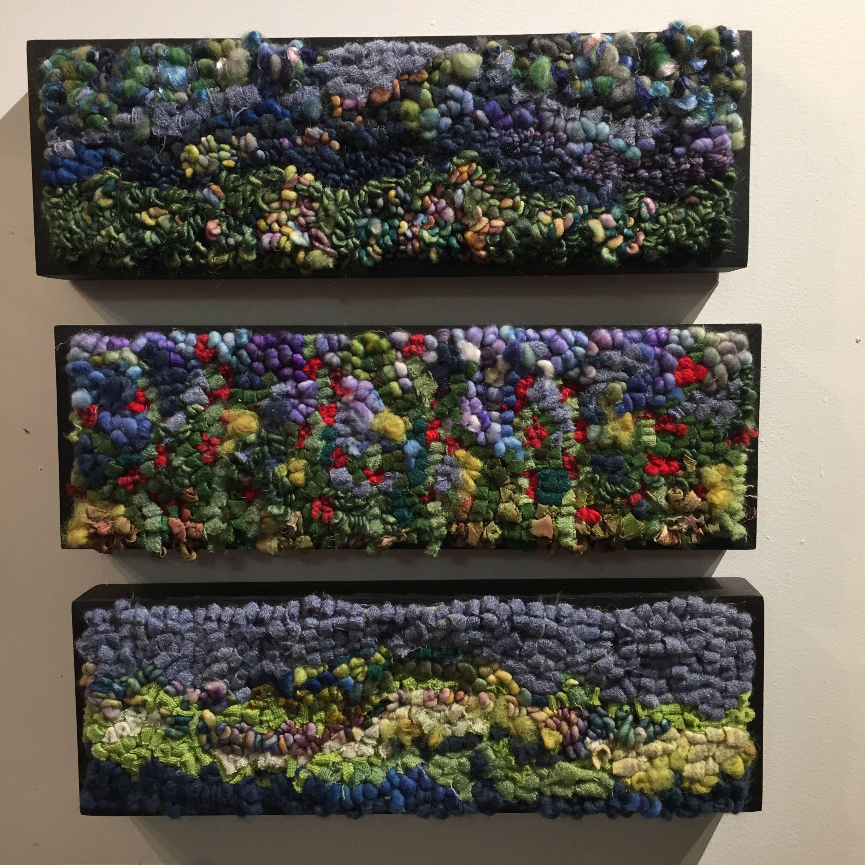 Greenery Rug Hooking By Deanne Fitzpatrick. Grey's, Blue