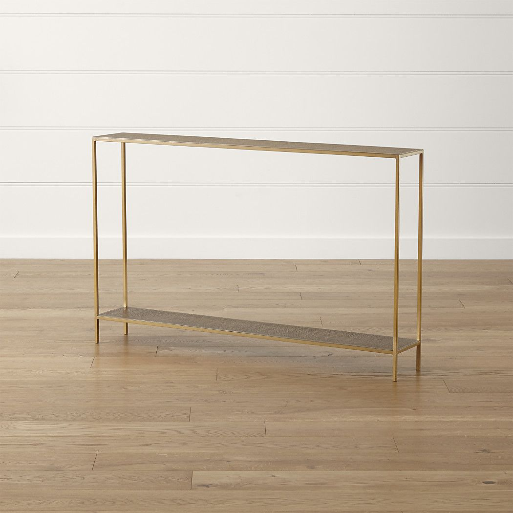 Jacque Brass Console Table Reviews Crate And Barrel Brass Console Table Console Table Furniture