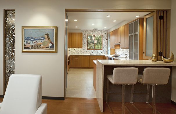 Have Your Open Kitchen And Close It Off Too Kitchen Design Open Semi Open Kitchen Design Open Plan Kitchen Living Room