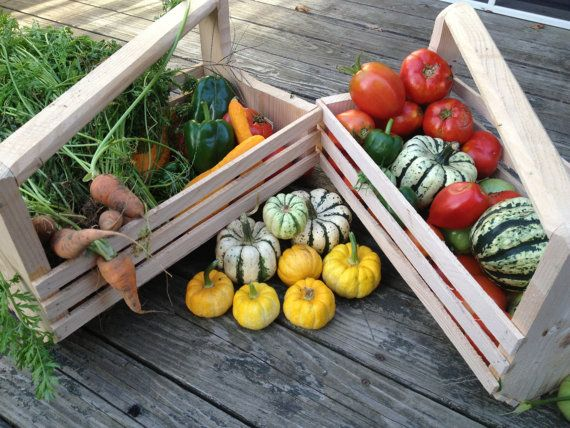 Modren Garden Harvest Basket Multi Use Hod Market Wooden Intended Inspiration Decorating
