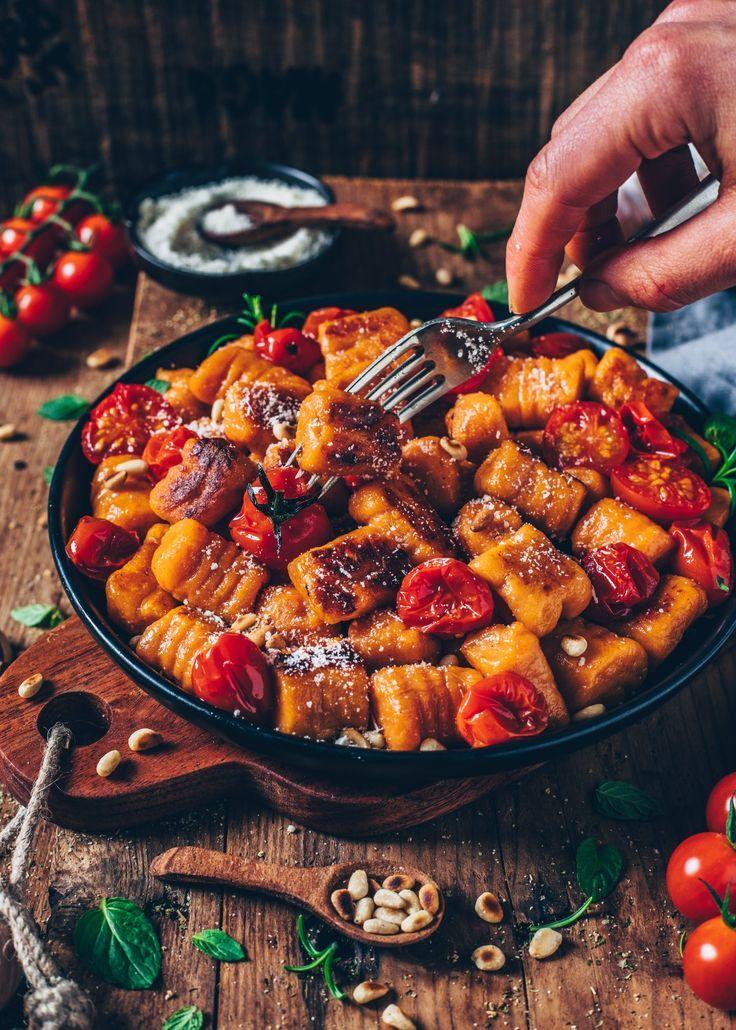 Vegane Süßkartoffel-Gnocchi (einfaches Rezept) #veganerezepte