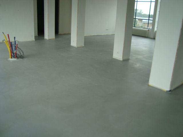 Een cemento gietvloer project in den helder vloer zo