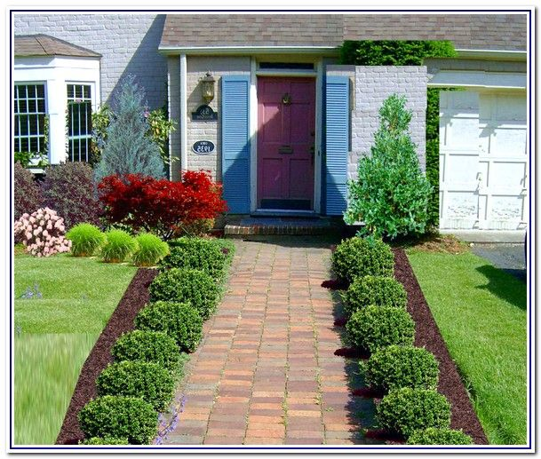 Low maintenance front yard landscaping front yard for Garden design ideas without grass low maintenance
