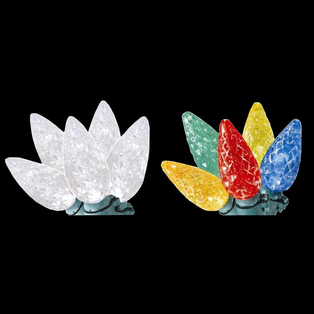 Home Accents Holiday 100 Light C6 Led Faceted Color Changing Warm White To Multi Color Lights Led Color Changing Lights