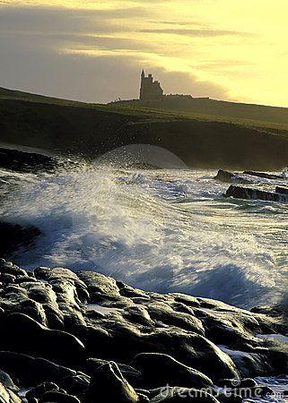 Mullaghmore County Sligo Ireland At Sunrise With Classiebawn