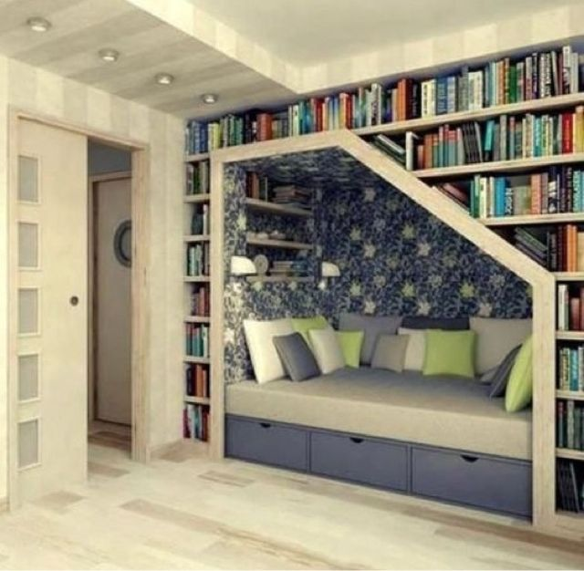 Good Idea For Book Storage Little Nook Is Nice For Seating Or A