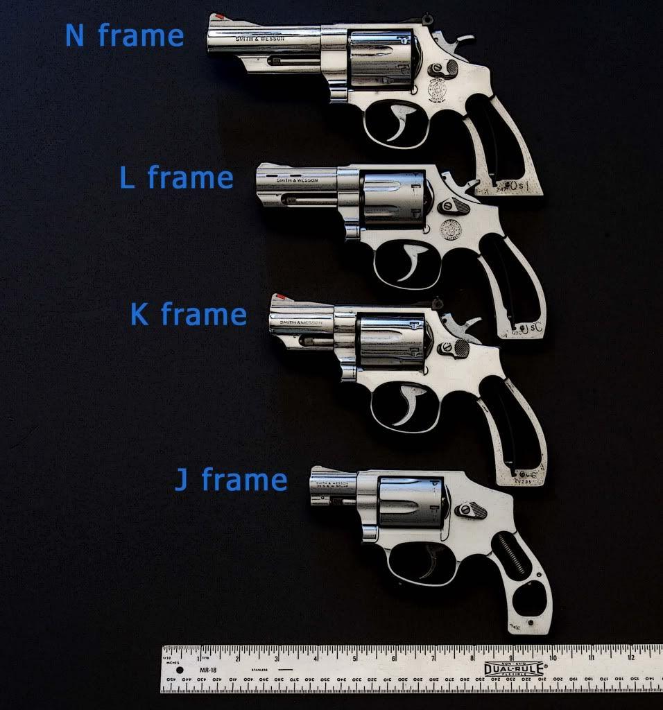 Comparison of Smith & Wesson revolver frame sizes | guns | Pinterest ...