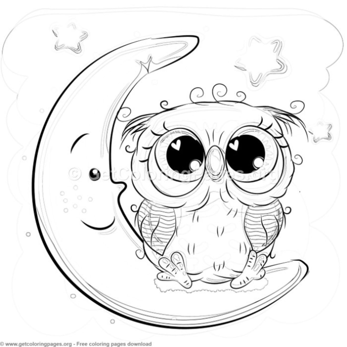 23 Cute Owl Coloring Pages Getcoloringpages Org Owl Coloring Pages Owl Drawing Simple Cute Coloring Pages