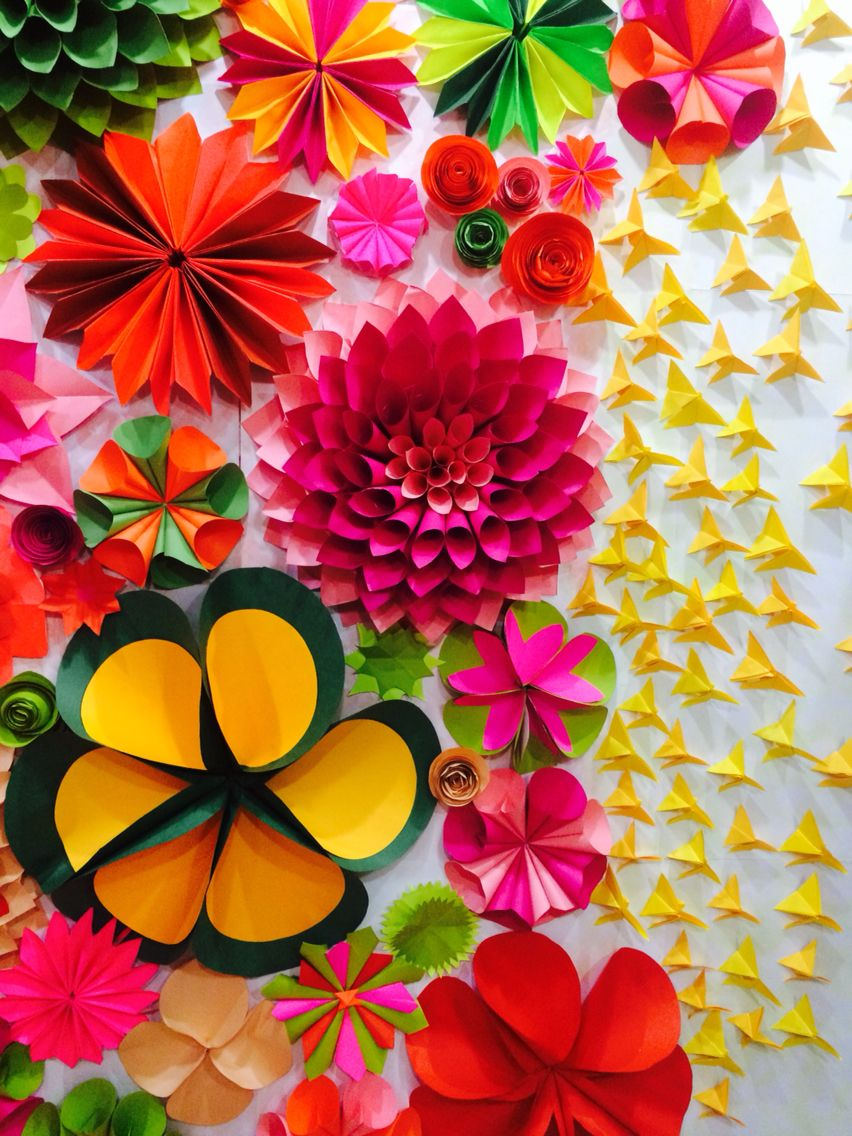 Closer look of the dahlias and other flowers year 2015 for Artificial flower decoration for ganpati