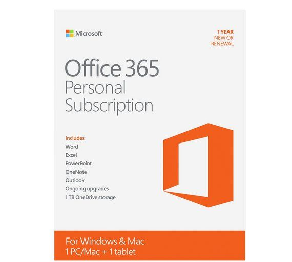 Buy Microsoft Office 365 Personal And Mcafee Livesafe At Argos Co