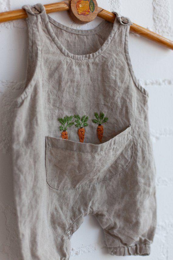 Linen Jumpsuit, Natural Baby Overall, Linen Overall, Baby Overall, Baby Jumpsuit, Hand Embroidery, Jumpsuit, Girl Jumpsuit, Boy Jumpsuit