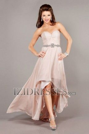 A-Line Sheath/Column Strapless Sweetheart Chiffon Prom Dress - IZIDRESSES.COM at IZIDRESSES.com