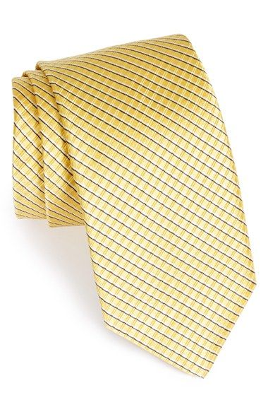 An understated grid defines a handsome tie cut from pure European silk. Color(s): orange, red, sky, yellow. Brand: ROBERT TALBOTT. Style Name: Robert Talbott Woven Silk Tie. Style Number: 830084.'