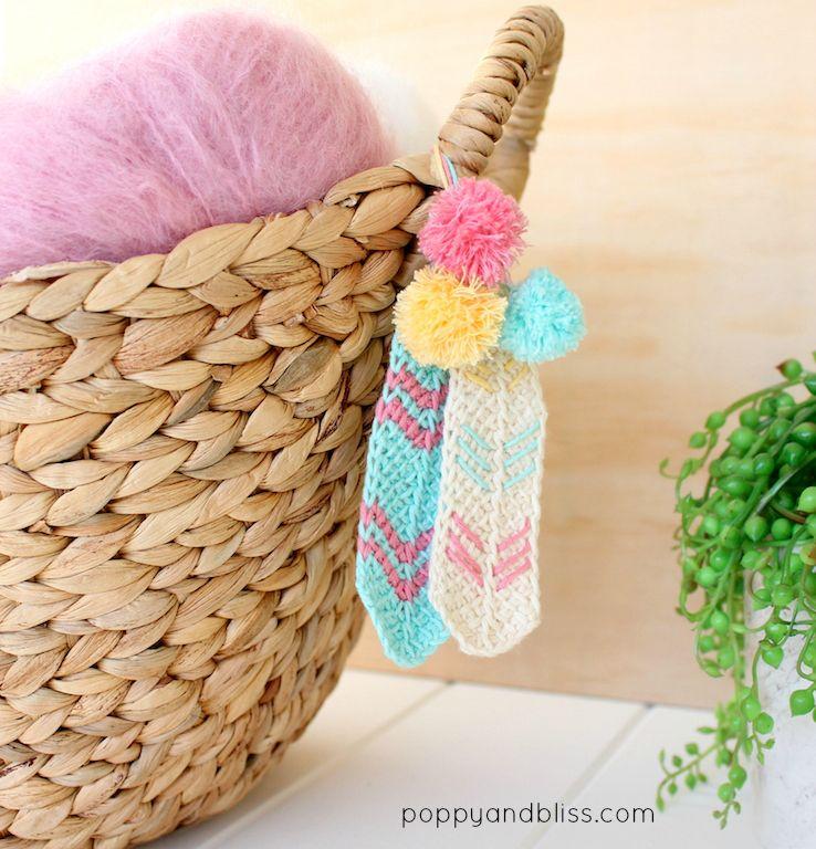 Tunisian crochet feathers free pattern | полезности | Pinterest ...