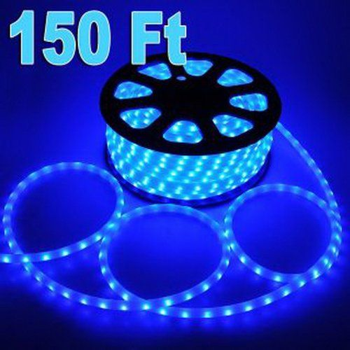 Sap Brand Name 150 Feet Led Rope Lights Blue Color 12 13mm 1656 Leds With Accessories Christmas Decoration Led Rope Lights Rope Lights Christmas Rope Lights
