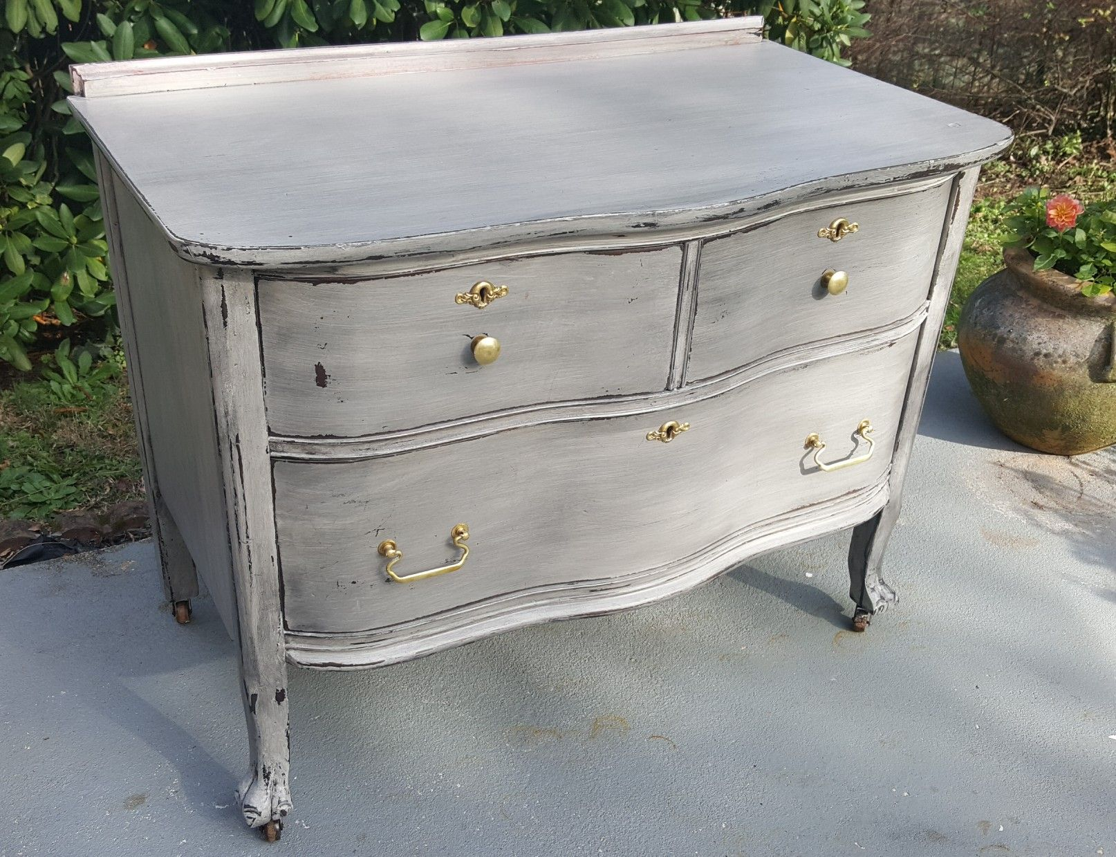 Ordinaire Antique Small Dresser In Washed Out Glazed Grey By Hello Gorgeous Co. 912  In York