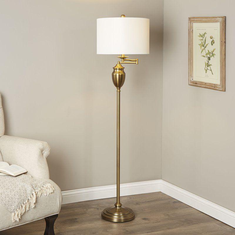 Aurora 60 Swing Arm Floor Lamp By Birch Laneu2122 Swing Arm Floor Lamp Traditional Floor Lamps Reading Lamp Floor