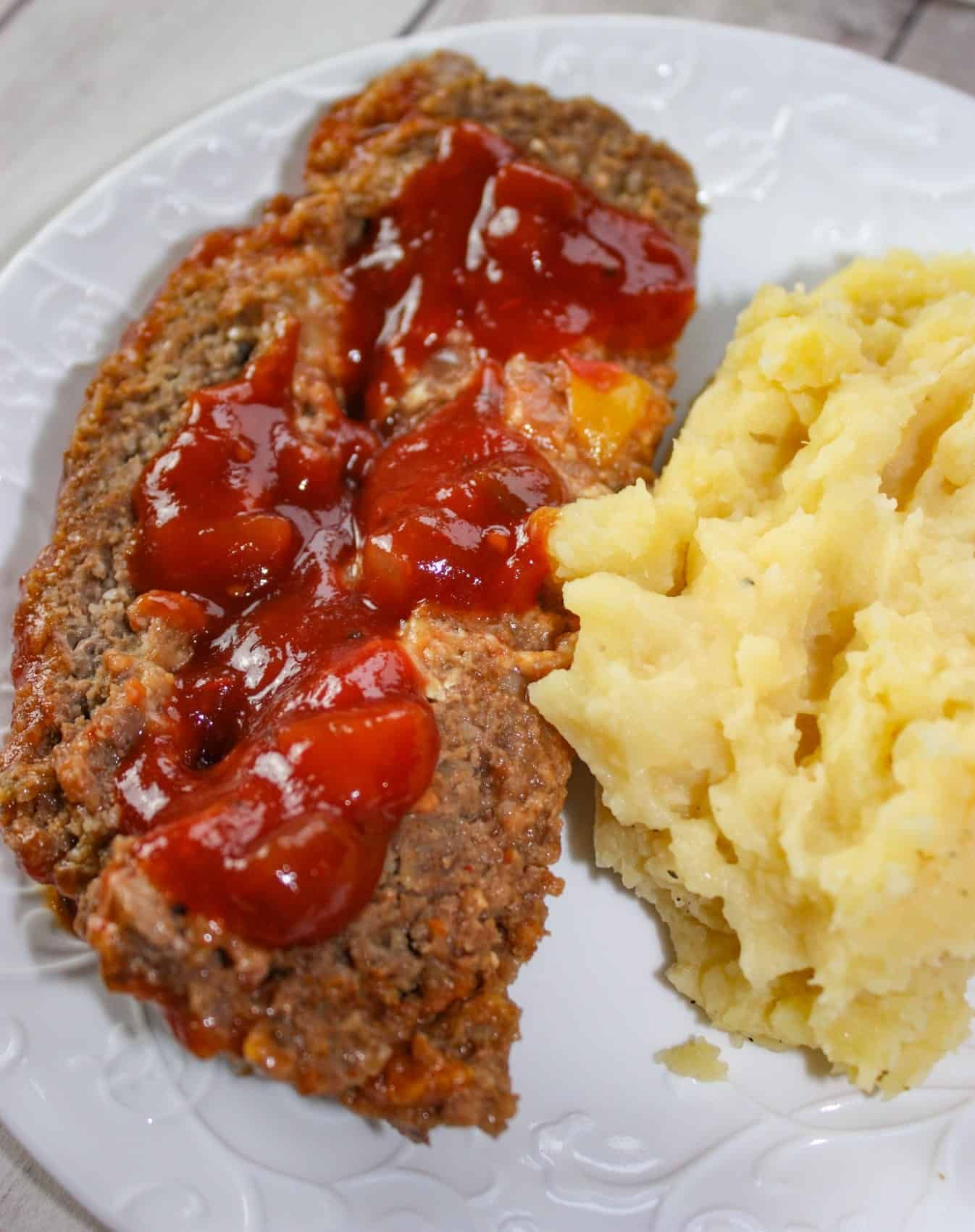Instant Pot Stuffed Meatloaf with Garlic Mashed Potatoes ...