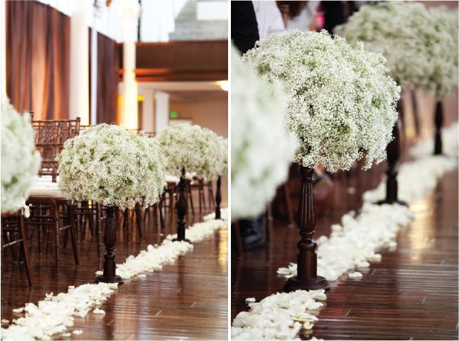 Wedding Trends Baby S Breath Part 2 Belle The Magazine Wedding Aisle Decorations Wedding Aisle Wedding Decorations