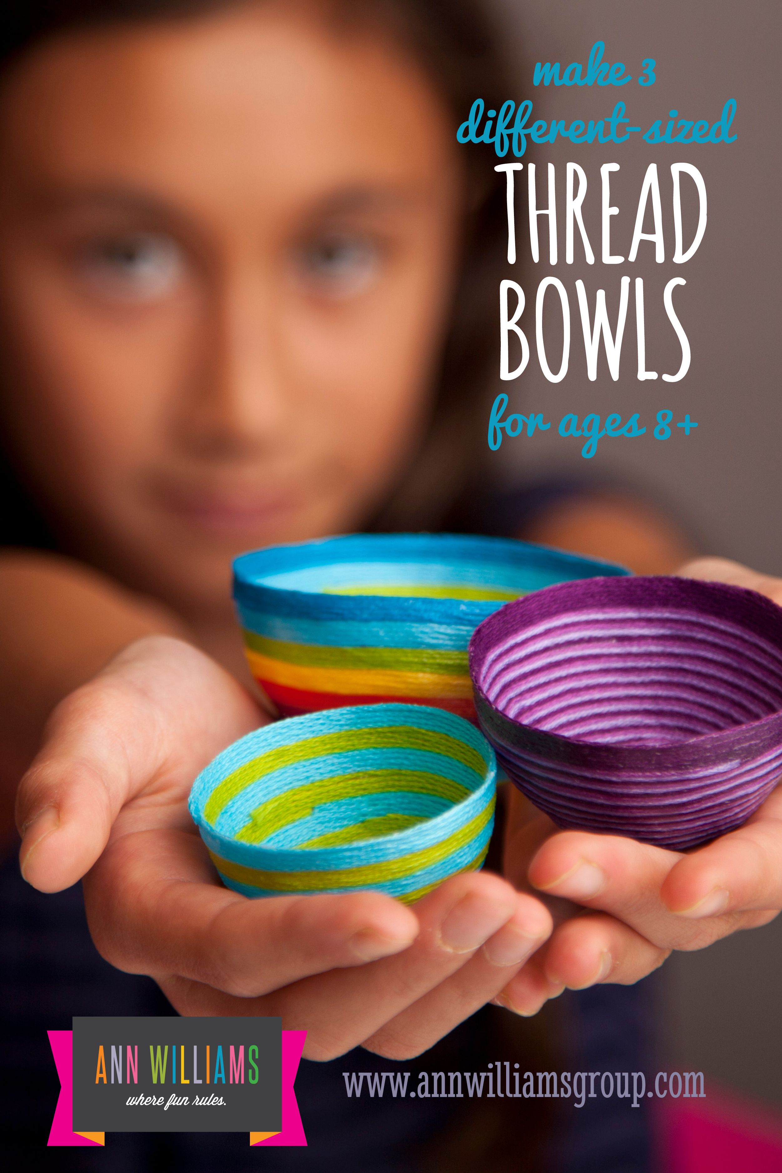 Mini Thread Bowls Perfect For Rings N Things Arts And Crafts For Teens Fun Arts And Crafts Easy Diy Crafts