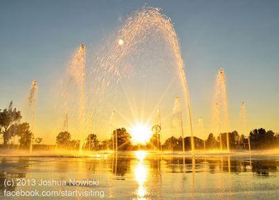 Whirlpool Compass Fountain in Saint Joseph, Michigan.  June- 2013
