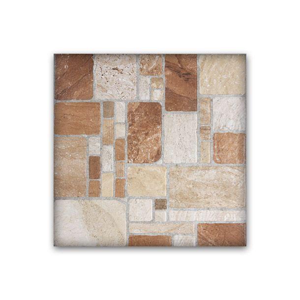 Piso rocalla 55 x 55 cm fd lamosa patios for Pisos rusticos para exteriores