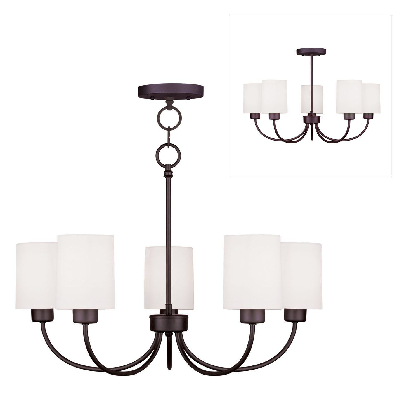 Livex Lighting 5265 Sus 5 Light Convertible Ceiling