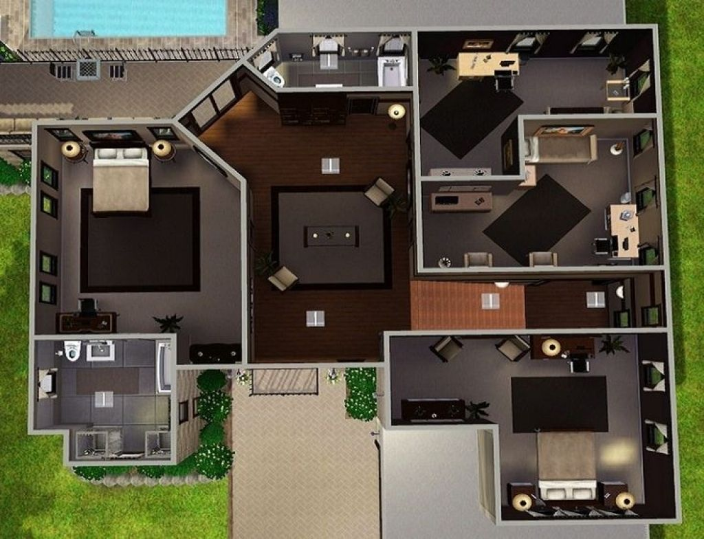 Great Modern Family House Plans Nice Design Multi Duplex ...