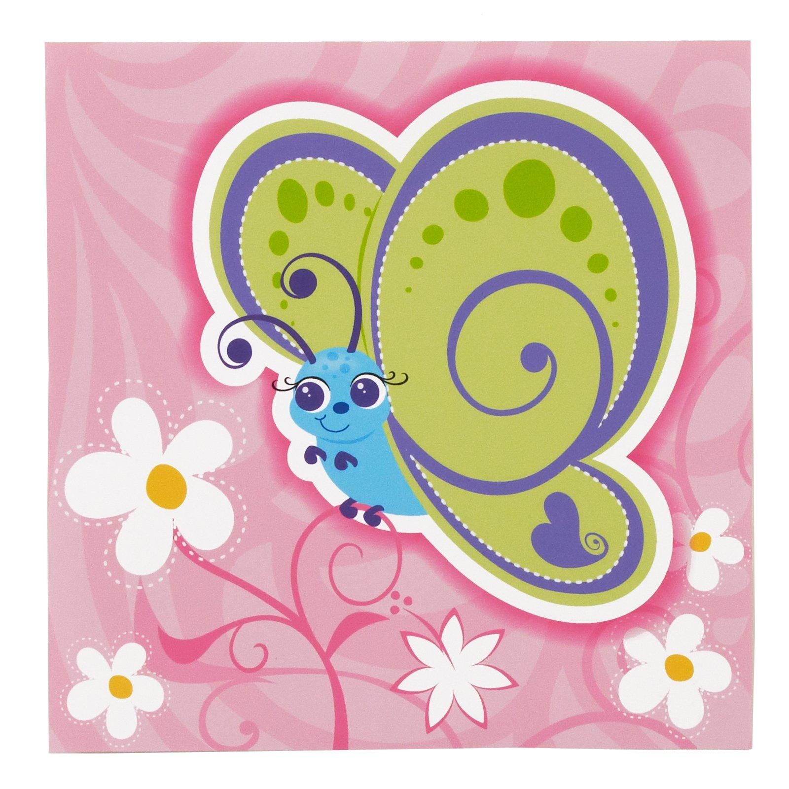 Butterfly sparkle luncheon napkins 16 pack butterfly