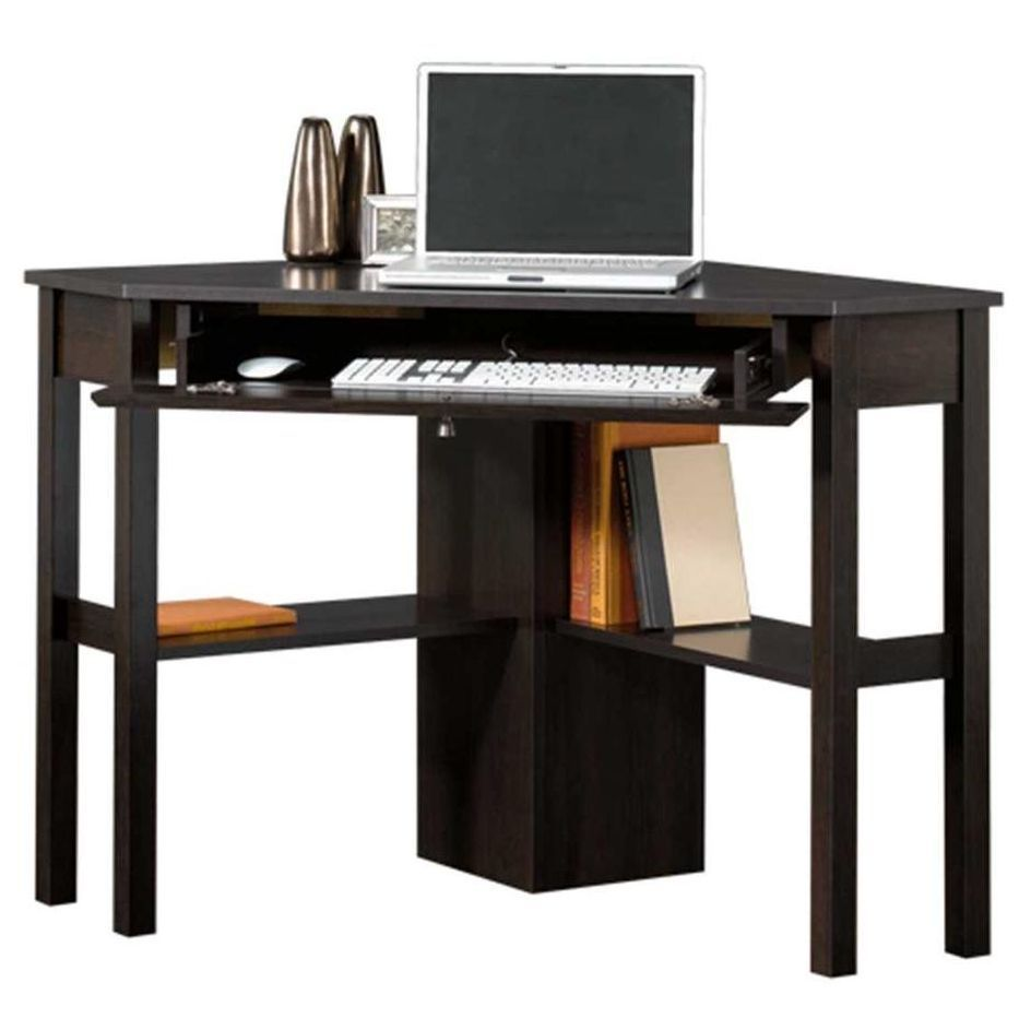 Corner Computer Desk Home Office Workstation Table Small Writing Laptop Wood