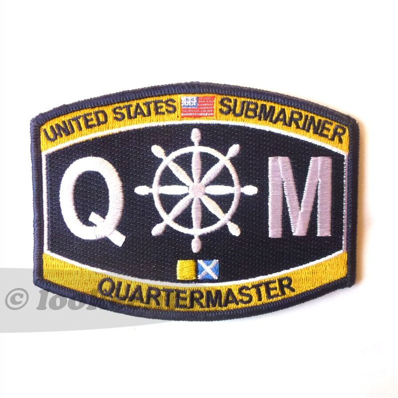 us navy quartermaster rating embroidered patch free shipping worldwide
