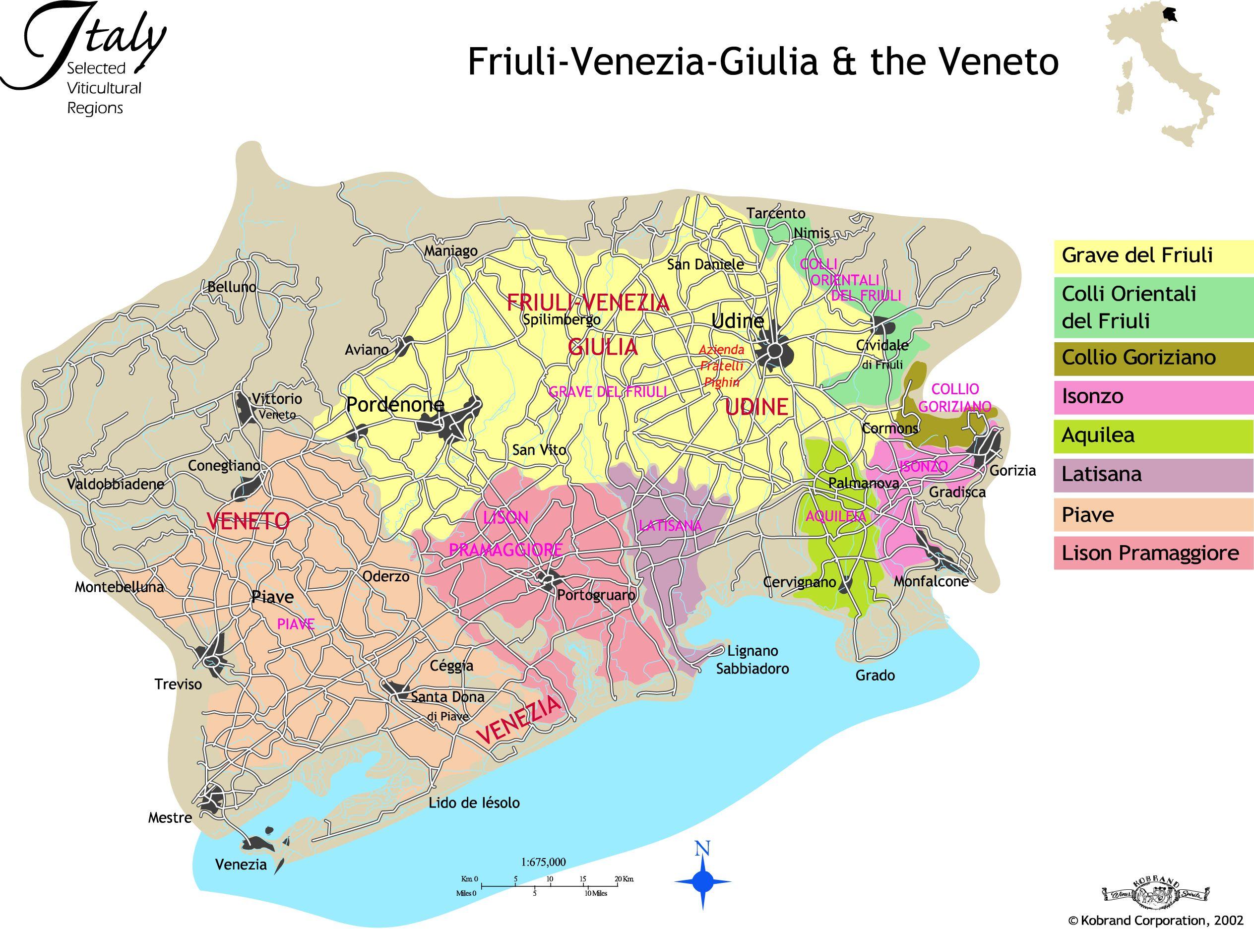 FriuliVenezia Giulia and the Veneto Les vins italiens Italian