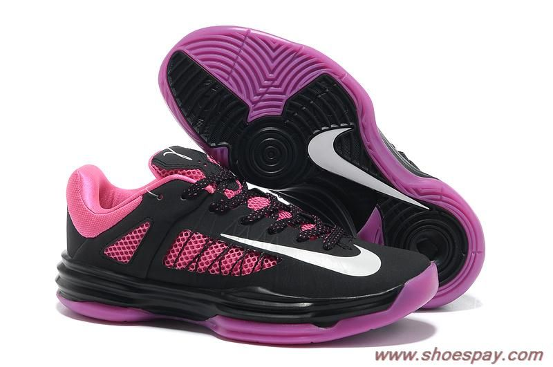 2013 2013 Womens Nike Lunar Hyperdunk Low 554671 005 Black White-Pinkfire  Light NBA Basketball