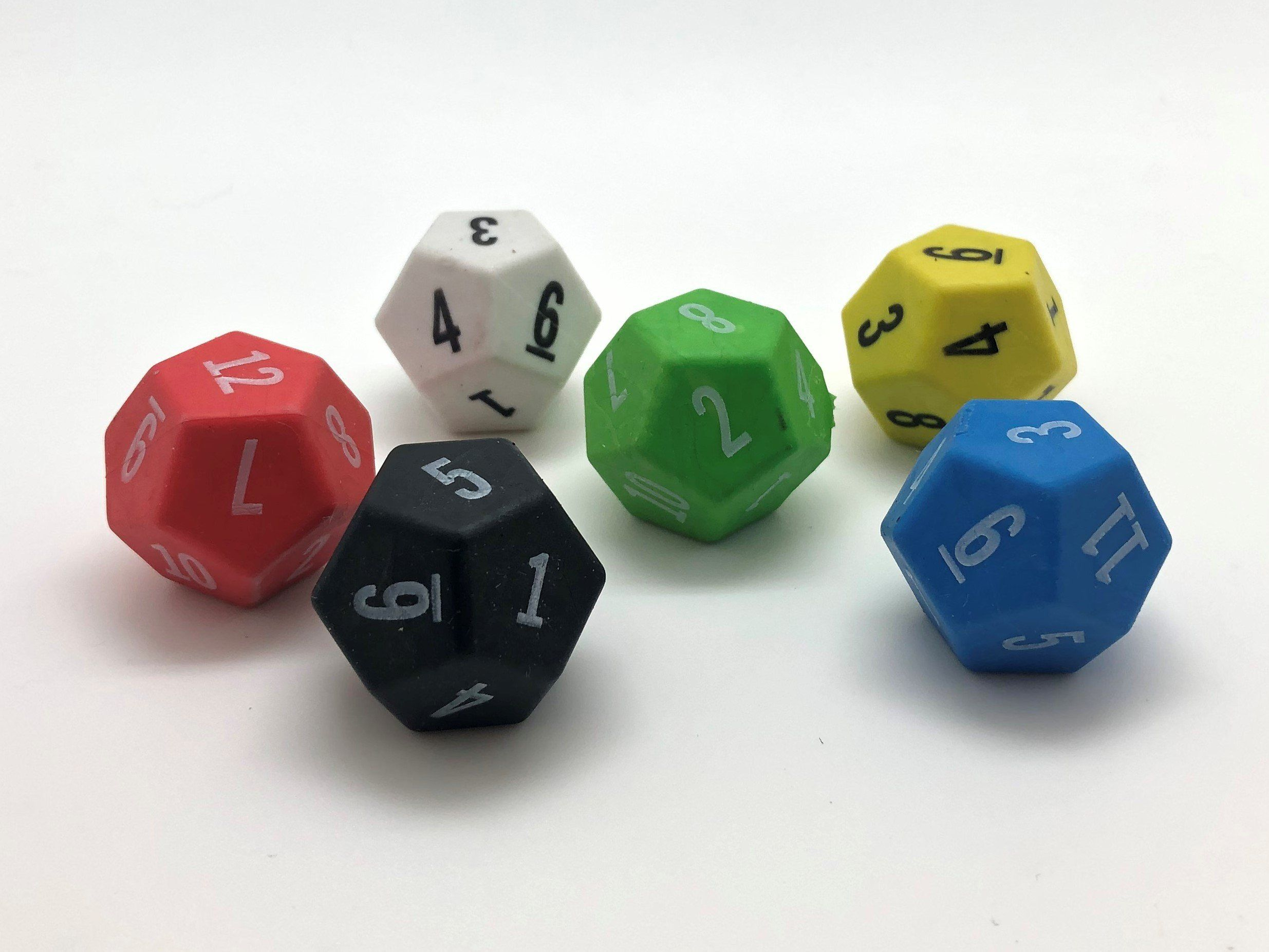 12 Sided D12 Soft Plastic Dice 28mm Soft Plastic Unique Items Products Soft