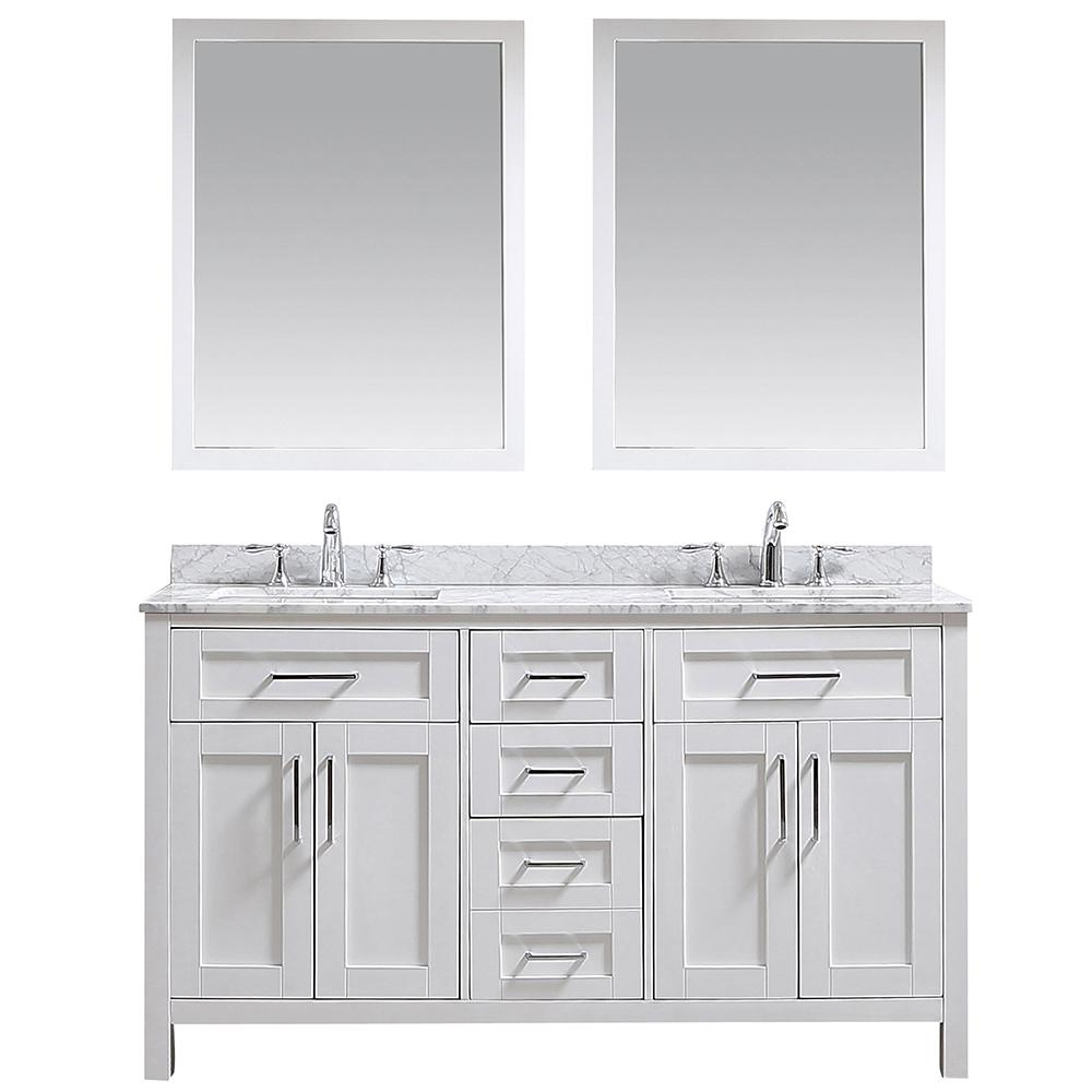 Ove Decors Ove Tahoe 60 In W X 24 6 In D Vanity In White With