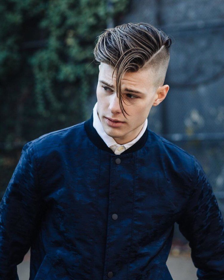 coiffure homme 2018 raie rasee coupe undercut hairstyles