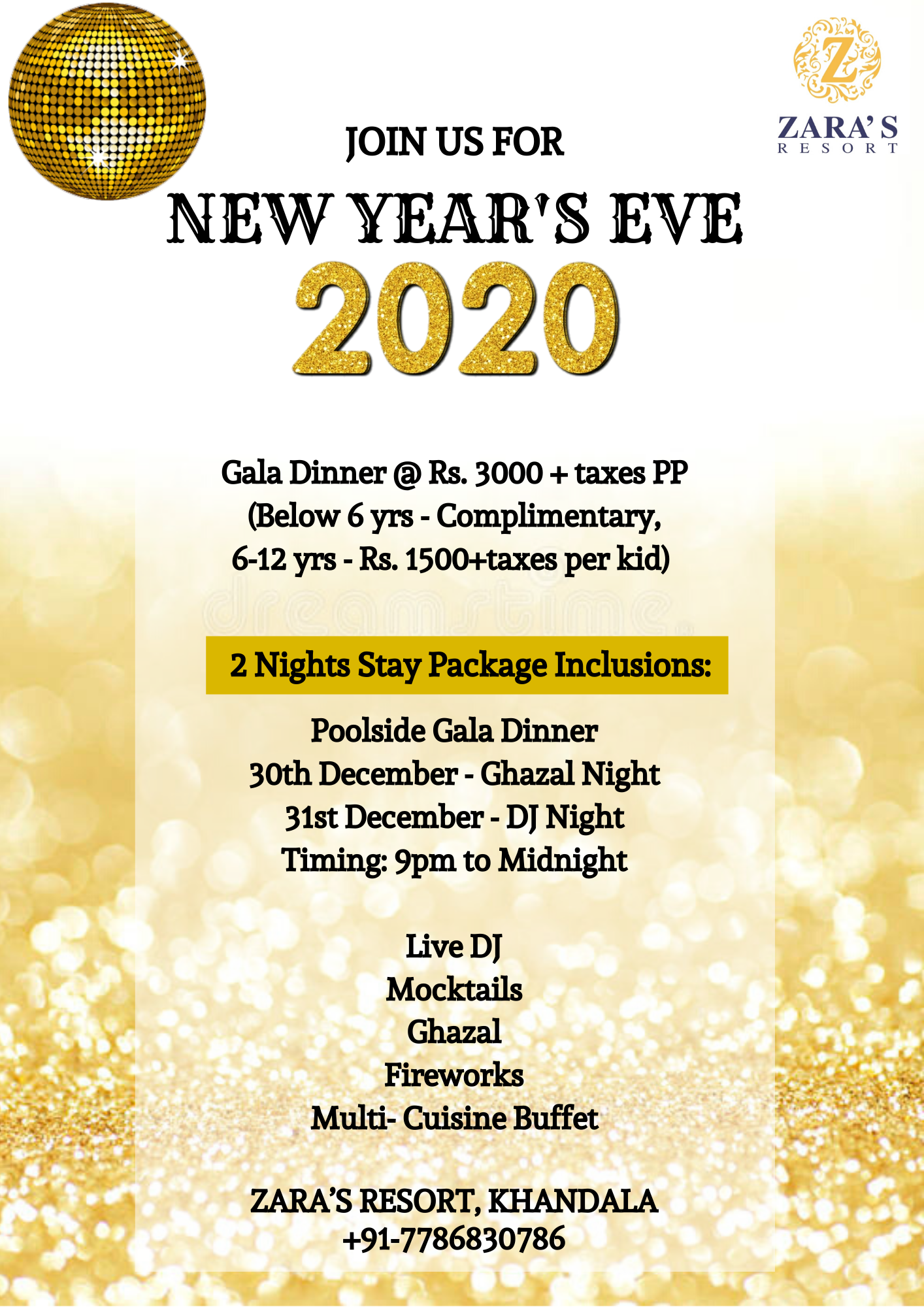 Join us for New Year's Eve Party with friends & family
