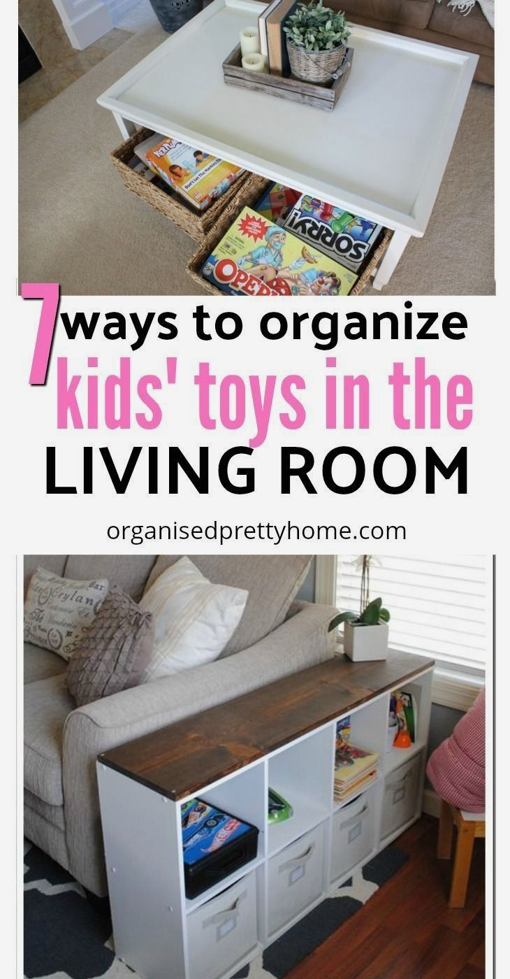 Living Room Toy Storage Ideas - Organised Pretty Home