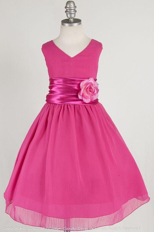 fuchsia flower girl dress new decade favorite wedding