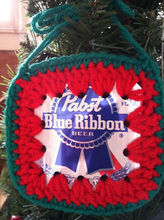 892574b46dc Recycled PBR Beer Can Holiday Ornament