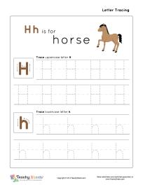 letter h h is for horse tracing letter h h worksheet for more free worksheets or worksheet. Black Bedroom Furniture Sets. Home Design Ideas