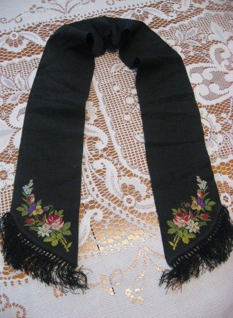 Mourning Remembrance Ribbon from Victoriana Lady Lisa's Traveling Museum.