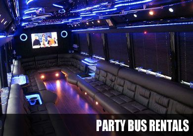 New York Party Bus Complete With A Flat Screen Plasma T V With Seats Made For Your Guest With Music That Will Sure Party Bus Rental Party Bus New Orleans Party