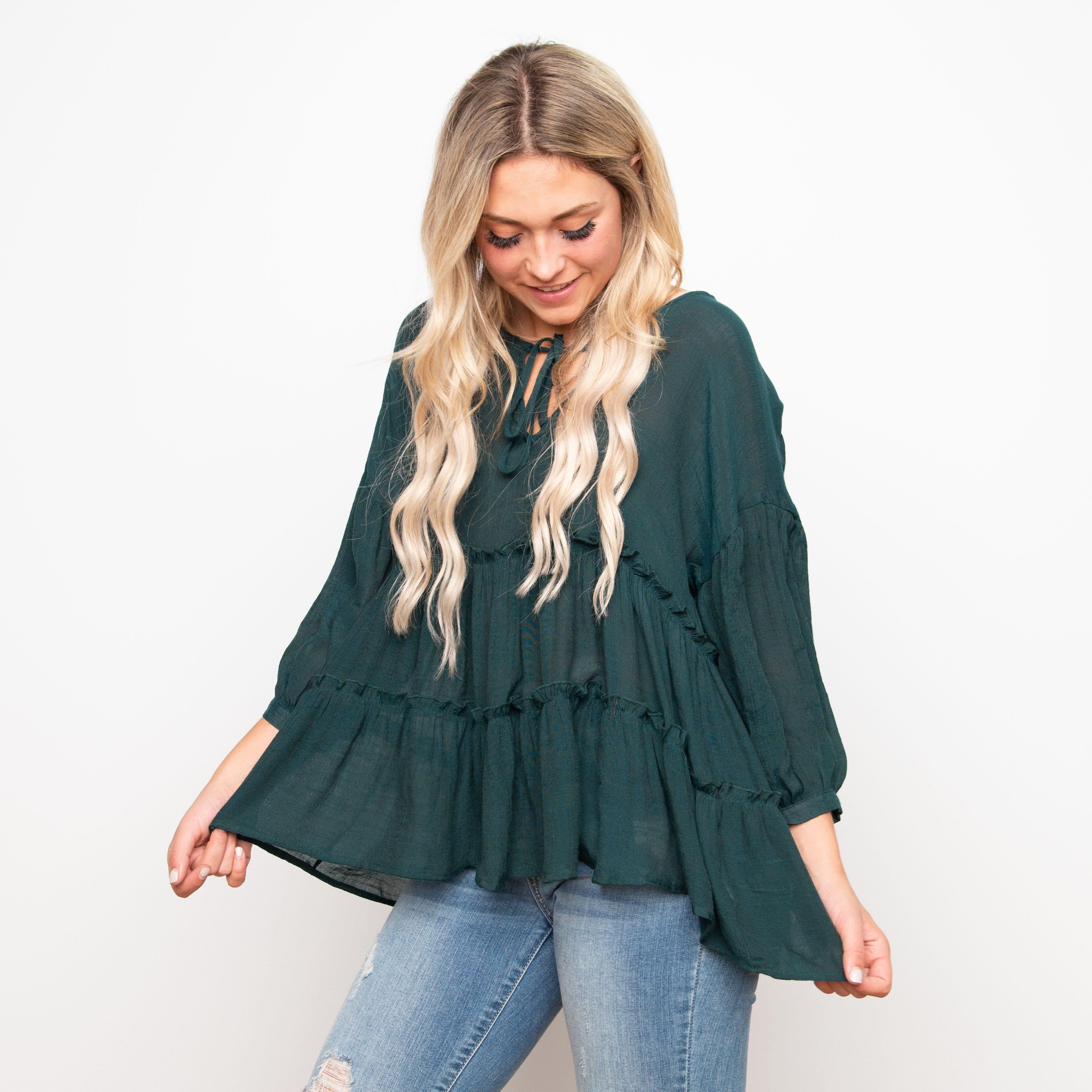 e9c29094877 Fraizer Tiered Top - Sea Green in 2019 | clothes | Tiered tops ...