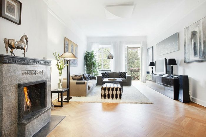 GroBartig Wohnzimmer Wandgestaltung Ideen U2013Deko Für Weiße Wand #streichen #pinterest  #gestalten #wohnzimmerwändeideen