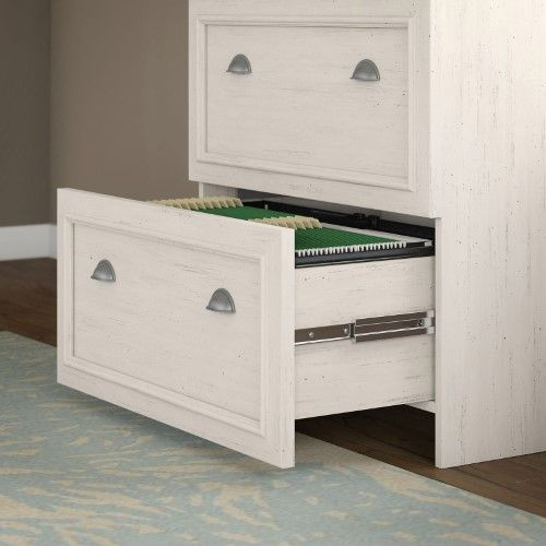 Bush Furniture Fairview Lateral File Cabinet Antique White With Images Filing Cabinet Bush Furniture Lateral File Cabinet