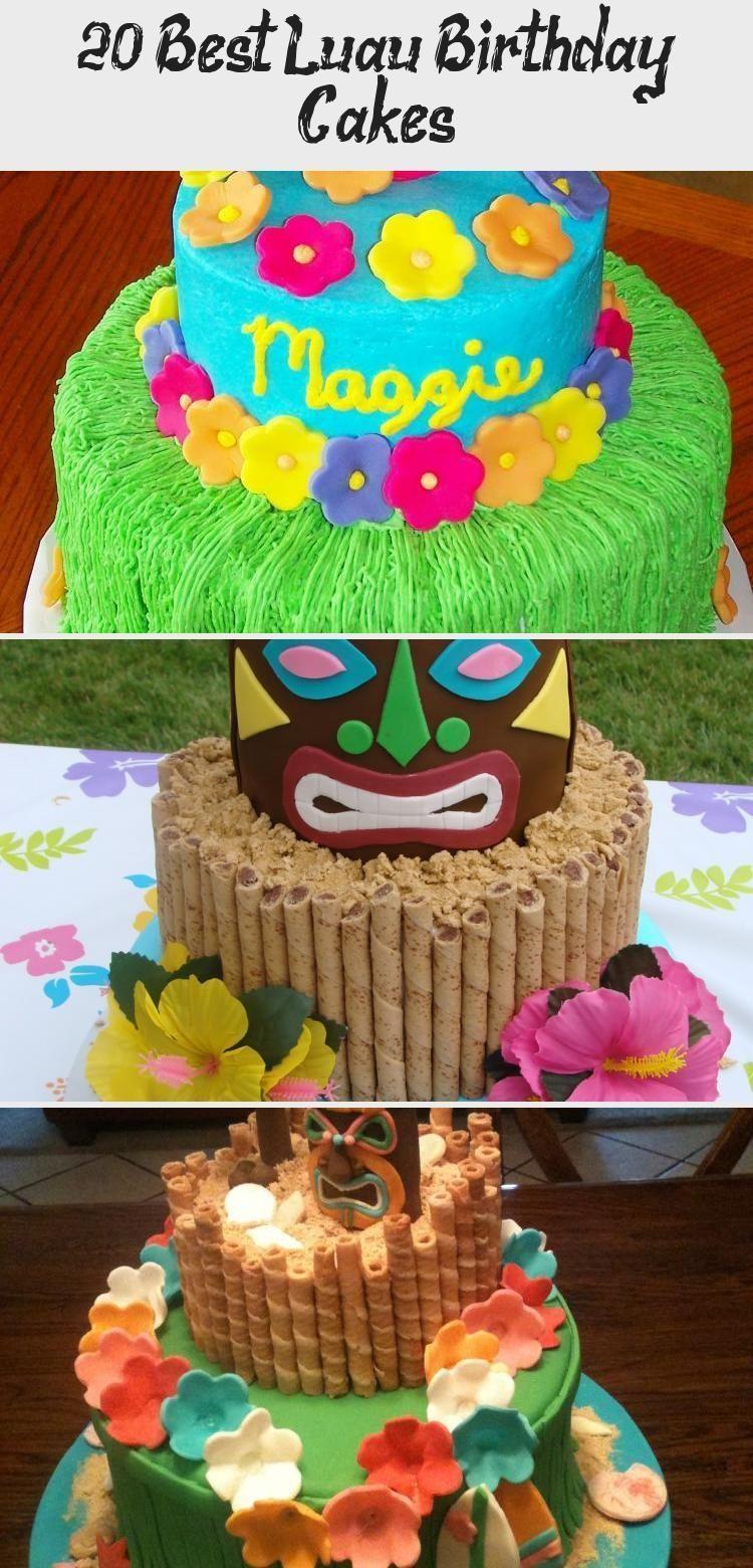 Photo of luau birthday cake.20 Best Luau Birthday Cakes #PinataKuchenRegenbogen #PinataKu…