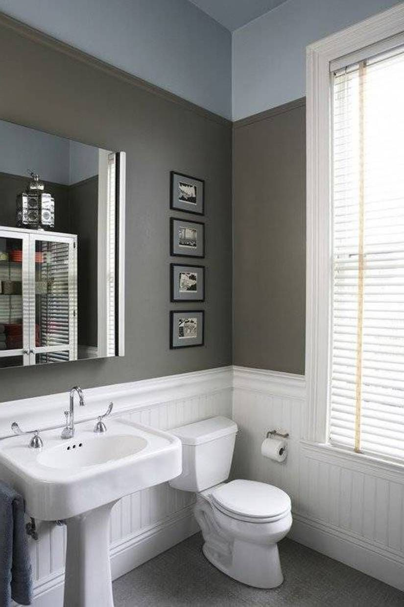 Gray colors for bathroom walls - Bathroom Charming Beadboard Wainscoting In Bathroom White Beadboard Wainscoting In Bathroom With Grey Wall