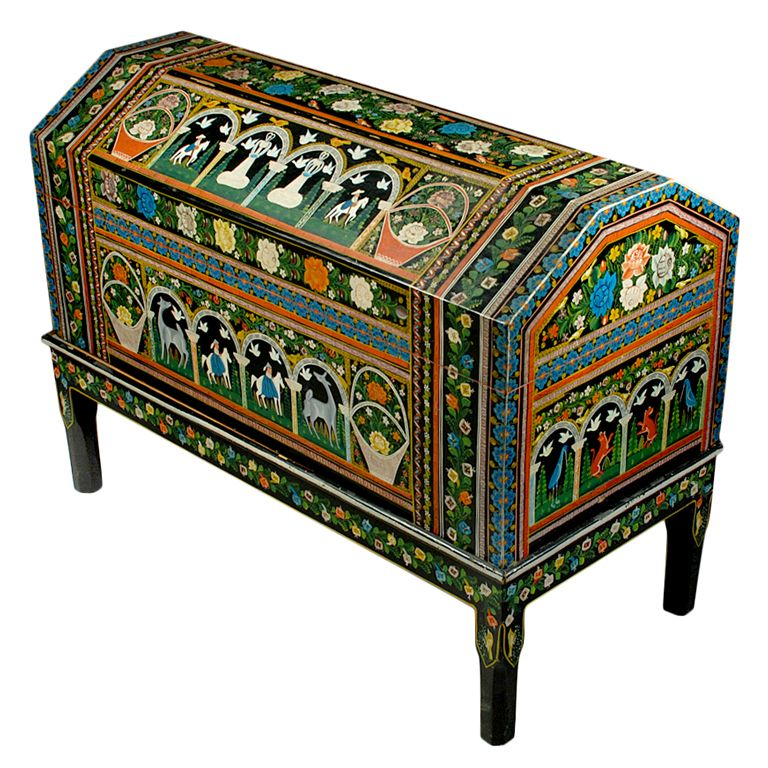 Mexican painted furniture vintage mexican painted and for Muebles cantero