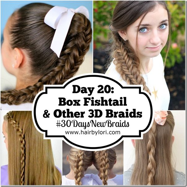 Day 20 Box Fishtail and Other 3D Braids - 30 Day Braiding Challenge